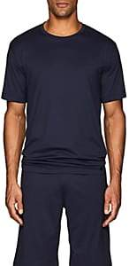 Hanro Men's Night & Day Cotton T-Shirt-Navy