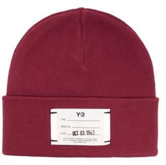 0ad91071e3f59 Y-3 Y 3 Logo Ribbed Cotton Beanie Hat - Mens - Red