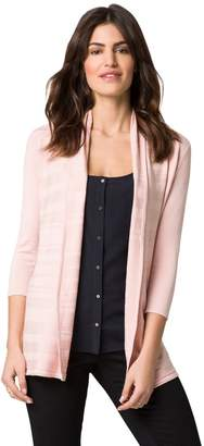Le Château Women's Rib Knit Open-Front Cardigan,S