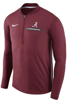 Nike Men's Alabama Crimson Tide Coaches Quarter-Zip Pullover