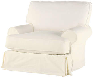 Comfy Slipcovered Club Chair - Cream Linen - Rachel Ashwell
