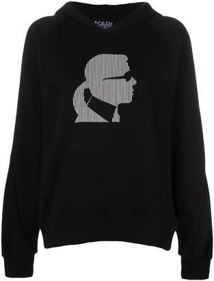 Karl Lagerfeld Ikonik head hoodie