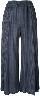 Pleats Please Issey Miyake cropped wide-leg trousers