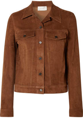 The Row Coltra Suede Jacket - Camel