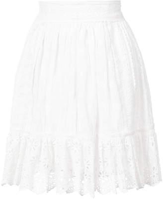 Ulla Johnson Elsbeth eyelet patchwork skirt