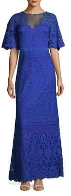 Tadashi Shoji Flutter-Sleeve Lace Dress
