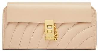 Chloé - Drew Quilted Leather Wallet - Womens - Beige