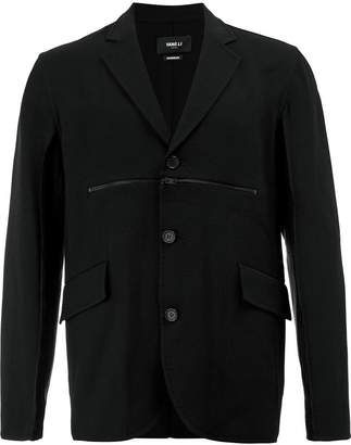 Yang Li zipped chest blazer