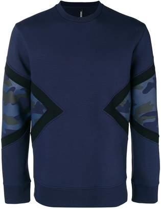 Neil Barrett camouflage insert sweatshirt