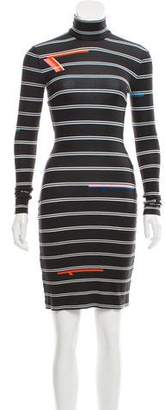 Preen by Thornton Bregazzi Preen Striped Turtleneck Dress