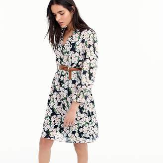 J.Crew Petite Mercantile drapey tie-front dress in French floral