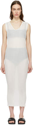 LAUREN MANOOGIAN White Cotton Accordion Dress
