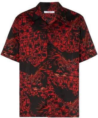Givenchy monster print cotton short sleeved shirt