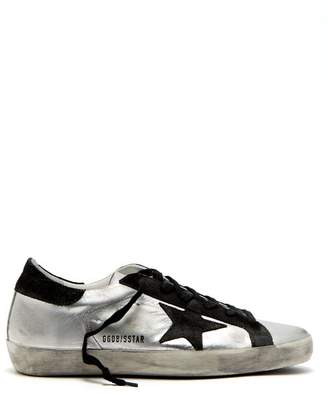 Golden Goose Deluxe Brand - Super Star Low Top Leather Trainers - Womens - Black Silver