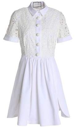 Alexis Broderie Anglaise Cotton-Blend Mini Dress