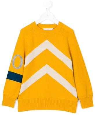 Stella McCartney chevron intarsia jumper