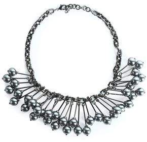 Valentino Gunmetal-Tone Necklace