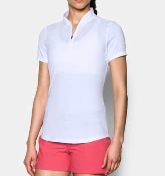 Under Armour Women's UA Threadborne Zip Polo Shirt