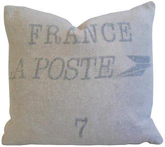 One Kings Lane Vintage French La Poste Textile Sack/Bag Pillow