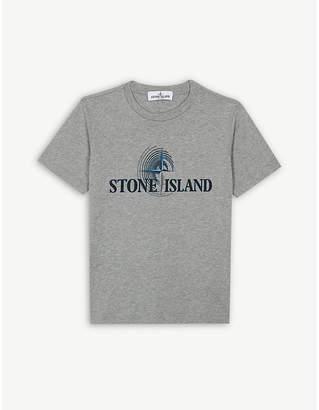 Stone Island Cotton logo T-shirt 4-14 years