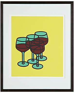 John Lewis Tate, Patrick Caulfield - Wine Glasses Framed Print, 50 x 40cm