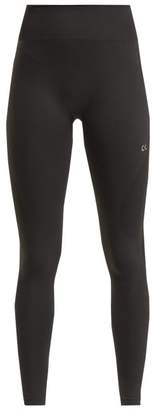 Calvin Klein High Rise Stretch Knit Leggings - Womens - Black