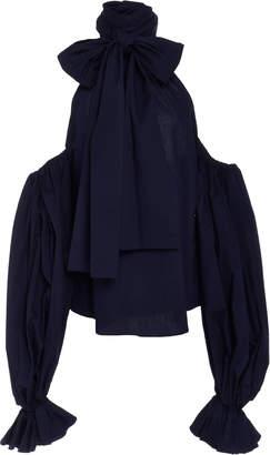 Leal Daccarett Macarena Cold-Shoulder Cotton Top