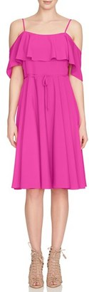 Women's Cece 'Jackie' Cold Shoulder Fit & Flare Dress $128 thestylecure.com