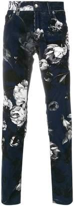 Dolce & Gabbana peony print trousers