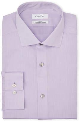 Calvin Klein Lilac Slim Fit Dress Shirt