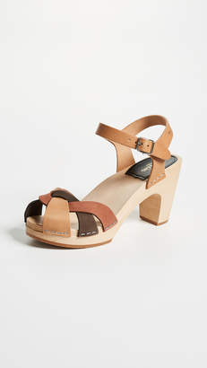 Swedish Hasbeens Kringlan Block Heel Sandals