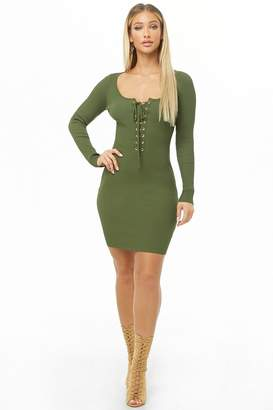 d76b85ab1393 Forever 21 Green Long Sleeve Dresses - ShopStyle Canada