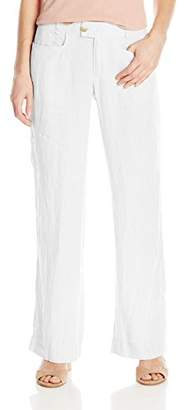 Foxcroft Women's Phoebe Chambray Linen Pant