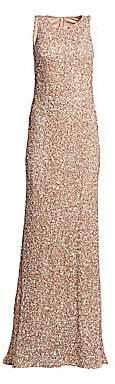 Theia Women's Sleeveless Sequin Sheath Gown