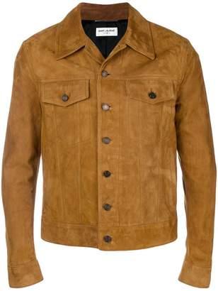 Saint Laurent nubuck leather jacket