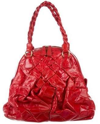 Valentino Crocodile Dome Bag