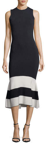 Sachin + Babi Mila Sleeveless Striped Cocktail Sheath Dress