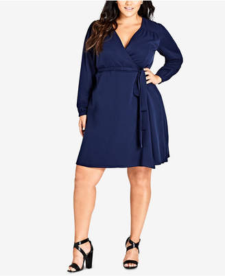 73032e8a69e City Chic Trendy Plus Size Wrap Dress
