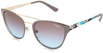 Vogue Women's Metal Woman Oval Sunglasses