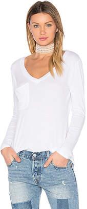 Bobi Light Weight Jersey Pocket Long Sleeve Top