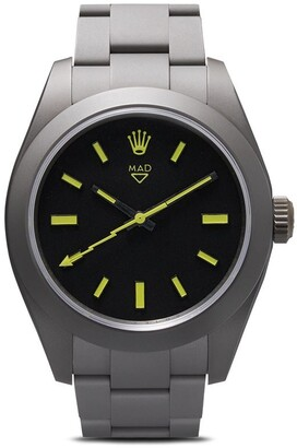 Rolex MAD Paris grey milgauss watch