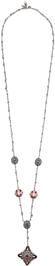 Alexander McQueen ALEXANDER MCQUEEN Crystal and pearl-embellished necklace