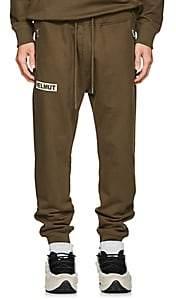 Helmut Lang Men's Logo Cotton Jogger Pants - Green