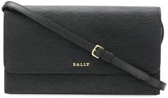 Bally foldover logo crossbody bag