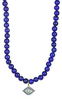 Sydney Evan 14K Yellow Gold, Lapis, Sapphire & Turquoise Necklace