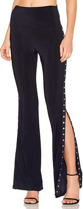 Norma Kamali Side Snap Boot Pant in Navy $200 thestylecure.com