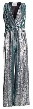 Sleeveless Sequin Jumpsuit
