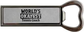 Coach Fotomax World's Okayest Tennis Stainless steel bottle opener and fridge magnet