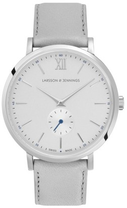 Larsson & Jennings Lugano Leather Strap Watch, 38Mm $335 thestylecure.com