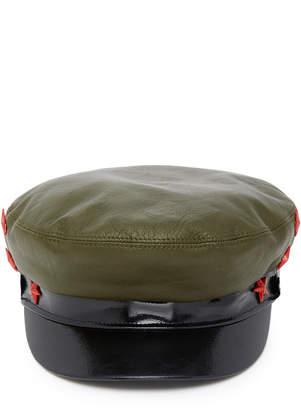 Avec La Troupe M'O Exclusive Leather Majorette Hat